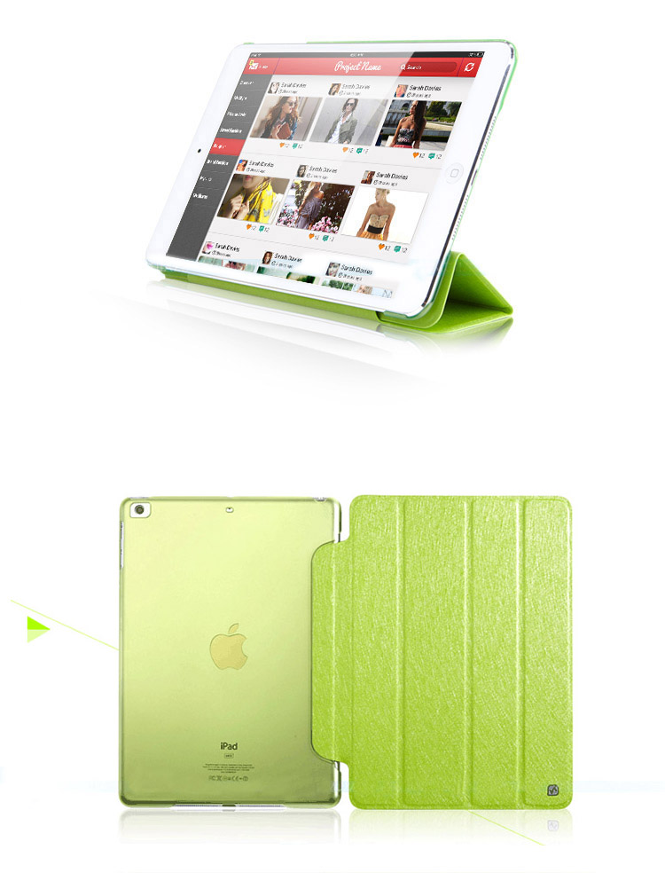 HOCO Glitter Covers / Cases / Sleeve Bags  for iPad Mini - Auto Sleep / Awake Feature, Imported PU and PC ECO Friendly Material