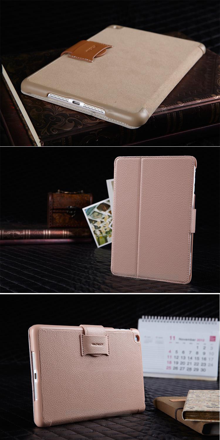 Macally iPad Mini , Mini Retina, Mini 3Cover Case Sleeve Bag, with Buckle. Fine  PU Leather, Fashionable Color and Design