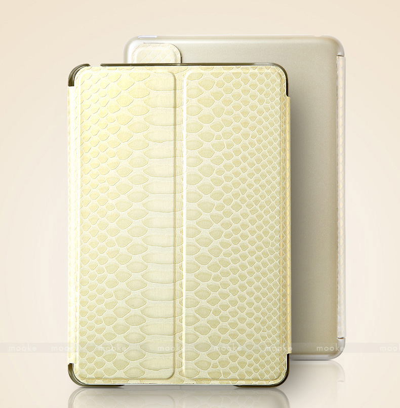 mooke Protective Covers for iPad Mini, Mini Retina, Mini 3, made by Foxconn - Glitter Series - with Metal Reinforced Front Cover - Ultra Thin -  Auto Sleep / Wake Feature