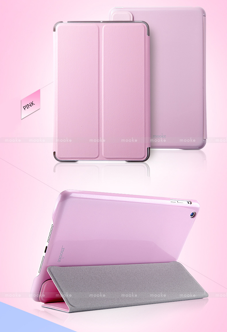 mooke Protective Covers for iPad Mini and iPad Mini Retina, made by Foxconn - Glittering Series - with Metal Reinforced Front Cover - Ultra Thin -  Auto Sleep / Wake Feature
