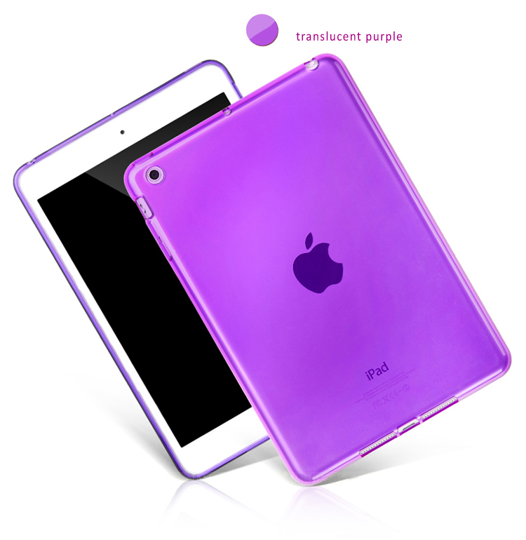 High Quality Translucent TPU Back Covers for iPad Mini -Ssoft and Ductile, Good Transparency
