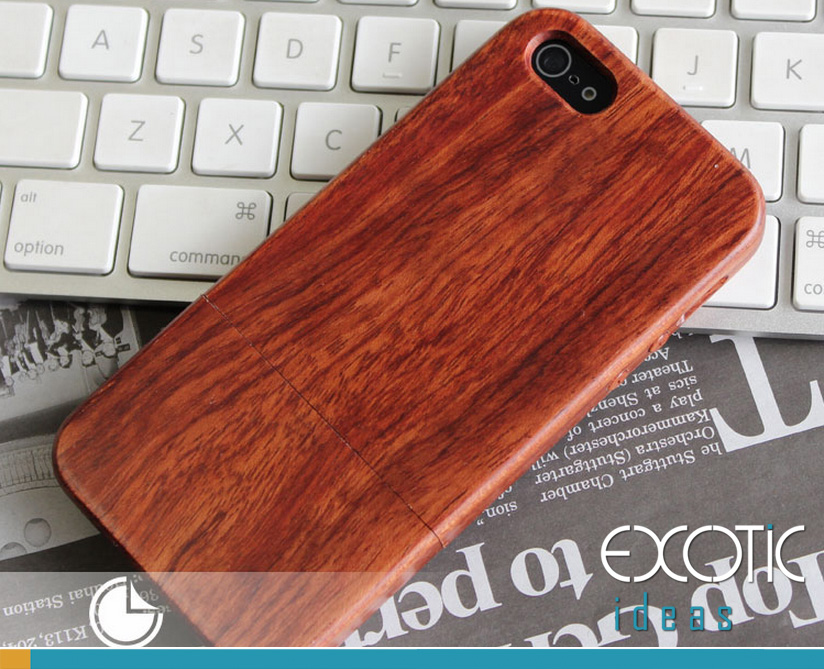 Goodlen Wooden Case Skin for iPhone 5, 5S, 5C -Handmade Two Pieces Clip on  Wooden Cases, Walnut, Rosewood, White Maple, Cherry 4 Choices
