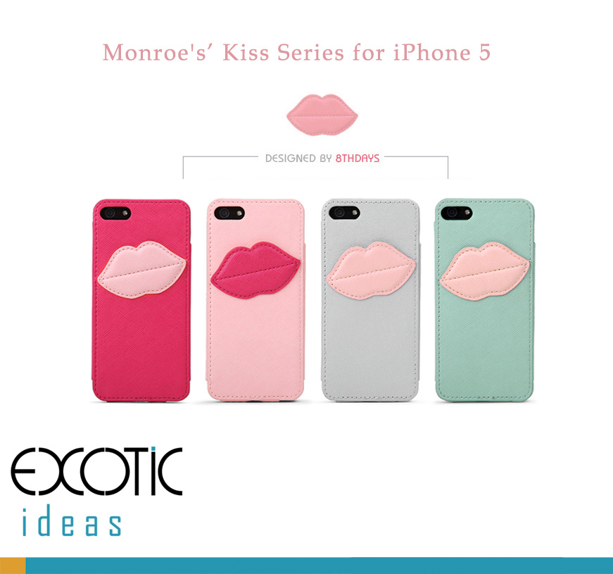 8thDays Monroe's Kisses Series  iPhone 5 Case Skin -  One Compact Case
