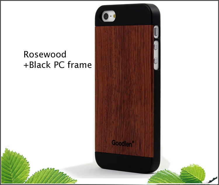 Goodlen Wooden iPhone 5 Case Skin - Rosewood + PC case - Wear resistance, No cracking.  Retro and Fashion