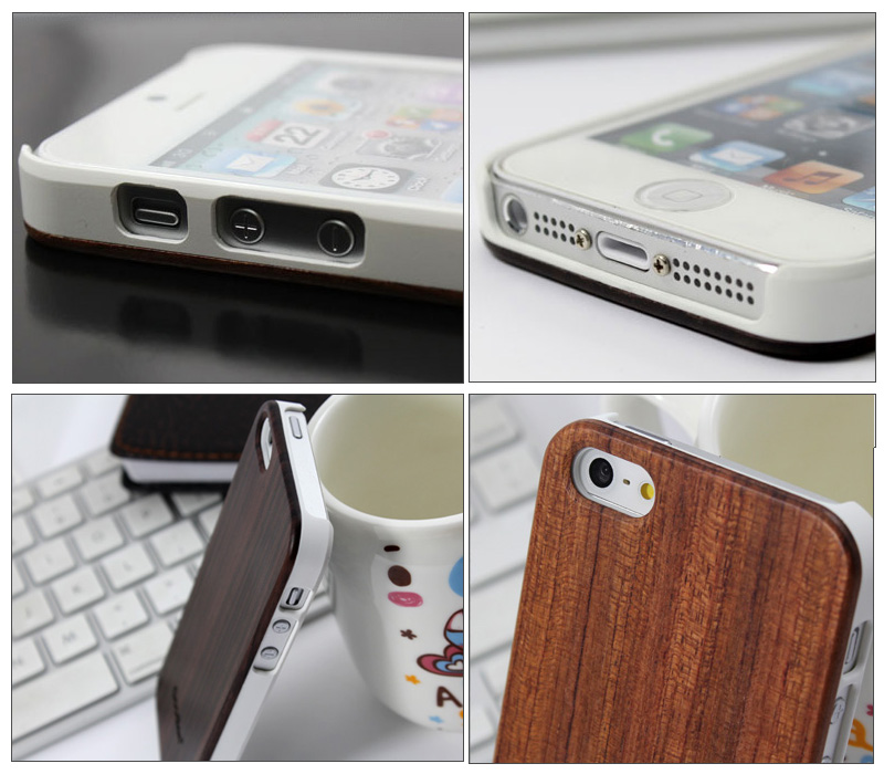 Goodlen Wooden iPhone 5 Case Skin - Black Sandalwood + PC case - Wear resistance, No cracking.  Retro and Fashion