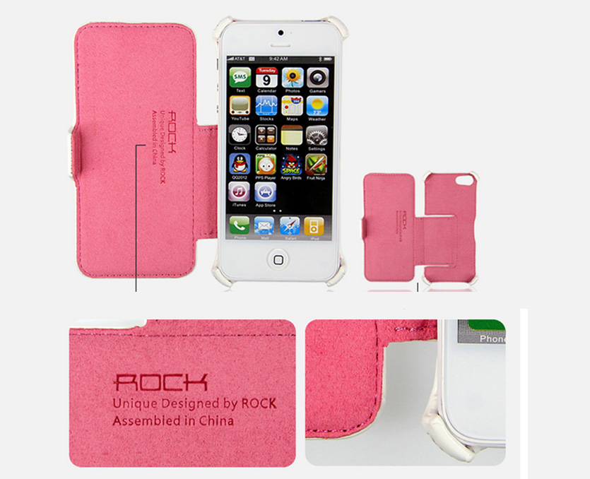 ROCK iPhone5 Case Skin - Dancing Series - Side Flip Leather Case with Stand Feature