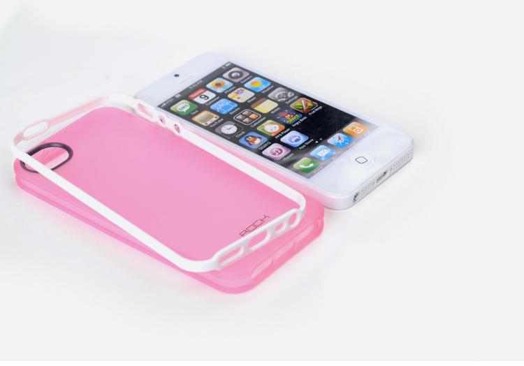 ROCK design for iPhone 5 Case Skin - High Grade TPU Cases - Invigorate Series - 360 degres bendble, Semi Translucent frosted, Matt Processed, Anti-Slip