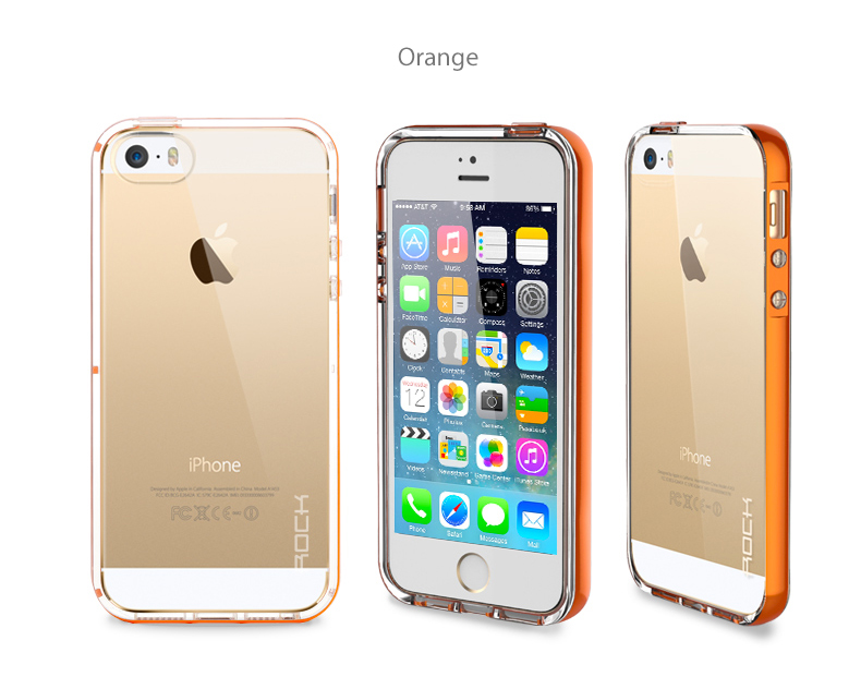 Rock iPhone 5/5S clear faceplate with Incoming call flashing design through clear crystal material