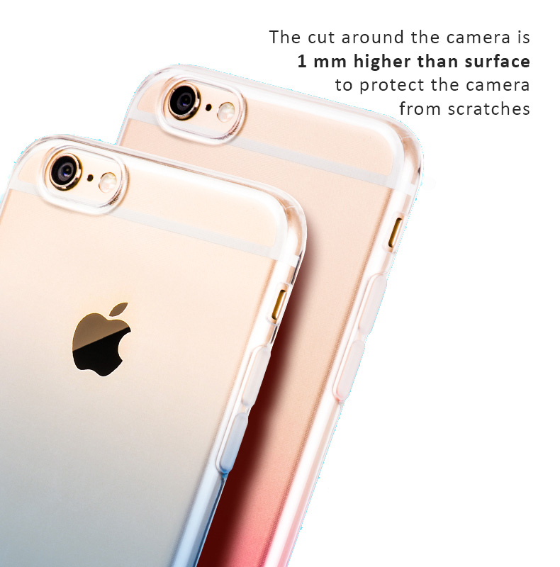 HOCO protective cases for iPhone 6, 6 Plus and iPhone 6s, 6SPlus - Splendid Color with Gradient Effects. Built-in dust plugs