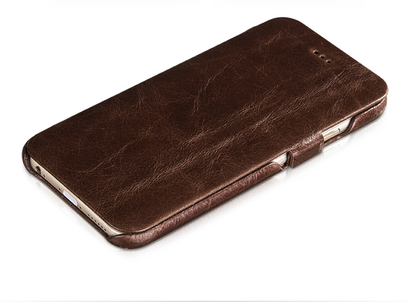 HOCO Cases for iPhone 6 with flip cover-Italian imported oil wax cowhide leather. With magnetic buckle