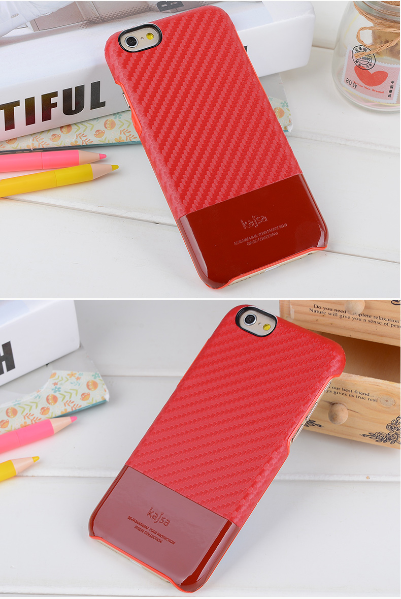 Kajsa Leather Protective Case with Lattice Patten Design for iPhone 6 and iPhone 6 Plus