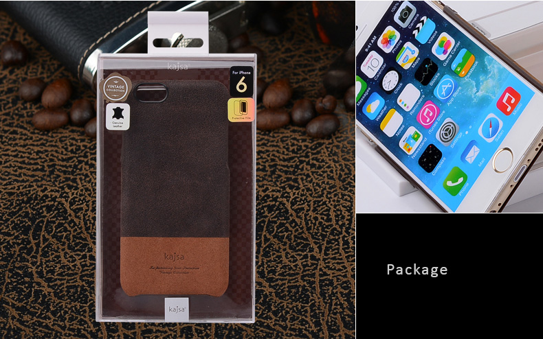 Kajsa Genuine Leather Protective Cases for iPhone 6 and iPhone 6 Plus -Soft leather, Soothe and Comfort for Hands