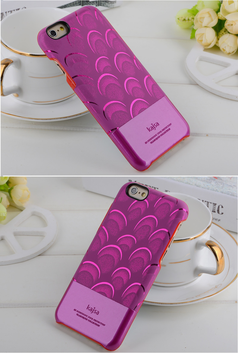 Kajsa Leather Protective Case Peacock Feather Pattern Design r for iPhone 6 and iPhone 6 Plus