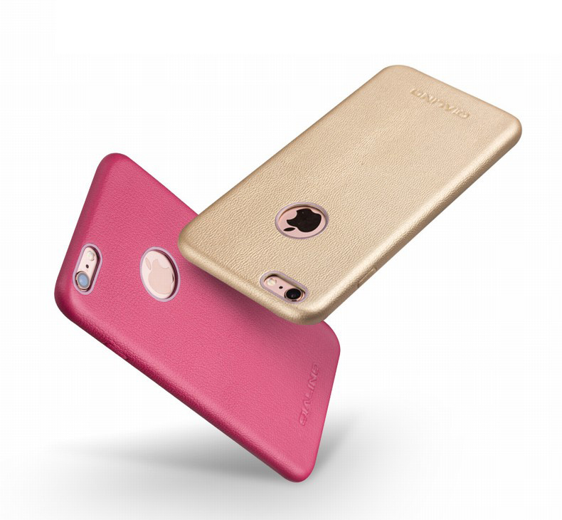 Imported Genuine Calfskin Leather Protective Case/Skin for iPhone 6/6S, iPhone 6 Plus/6S Plus -EXclusive Design for Ladies. Color option-Rose Gold, Rose Red and Champagne.- exotic-ideas.com