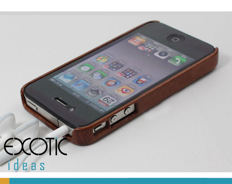 Goodlen Wooden iPhone 4/4S Case Skin -Handmade One Piece Wooden Cases, Walnut, Rosewood, White Maple, Cherry Wood, 4 Choices