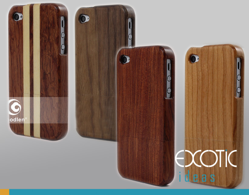 Goodlen Wooden iPhone 5 Case Skin -Handmade Wooden Cases for  iPhone 5, 5S, 5C, Walnut, Rosewood, White Maple, Cherry Wood, 4 Choices - 2 Parts Clip-On