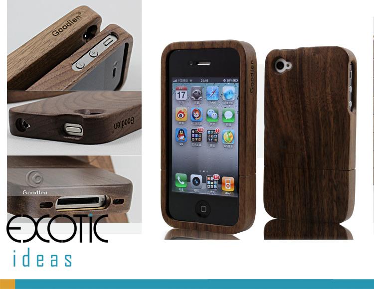 Goodlen Wooden iPhone 4/4S Case Skin -Handmade Wooden Cases, Walnu Wood - 2 Pieces