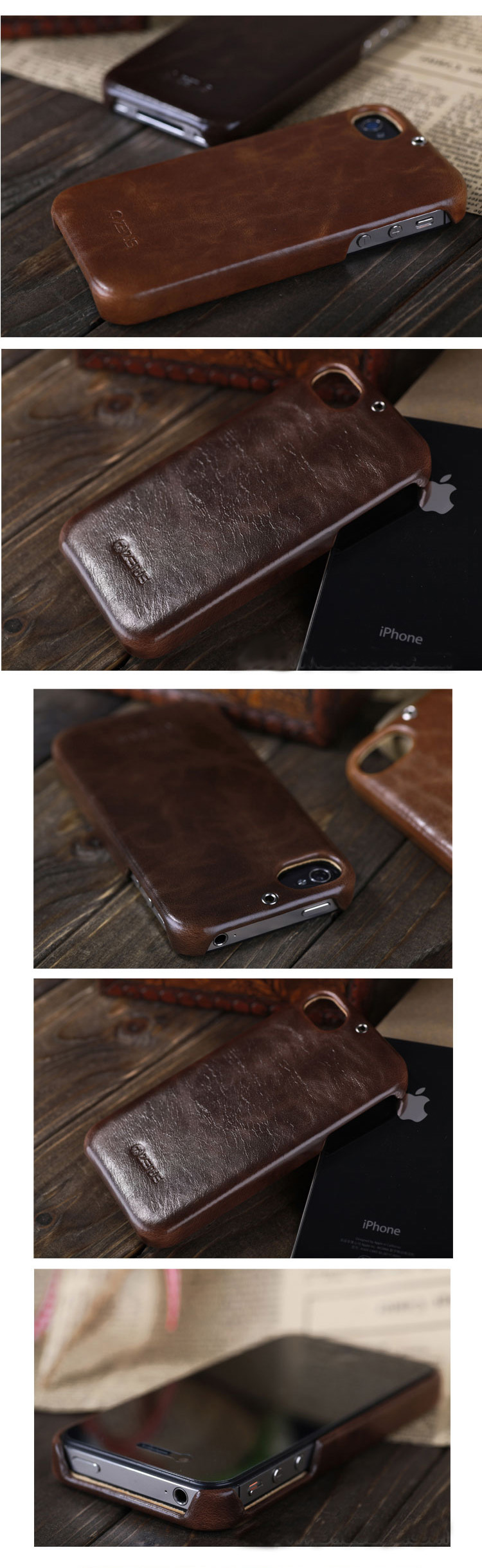 iPhone 4 4S Genuine Leather  Phone Case Skin - Zenus  - The Return to the King Series