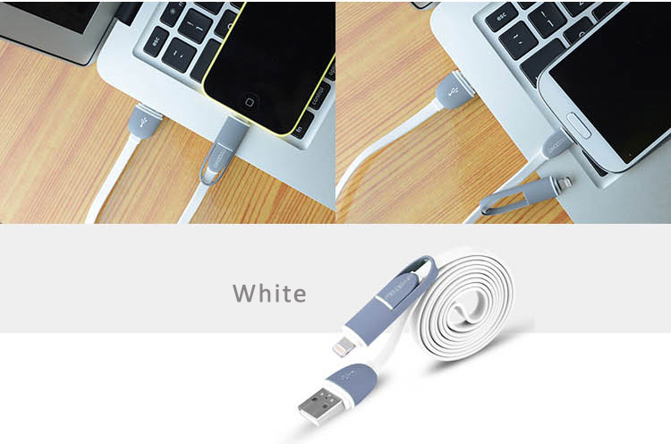Dual Ports ightning USB Port Cables with Mini USB port for iPhone 5/5C/5S, iPhone 6/6 Plus and iPad Air iPad Air2, iPad Mini and Android Phones, Tablets, TPE + Copper wire for high performance and stability.