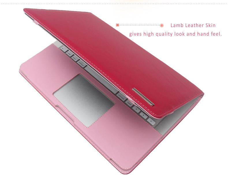 """BKB Lambskin Leather Protective Cases for MacBook Air & Pro, Pro Retina 11.6"""", 13.3 and 15.4""""."""