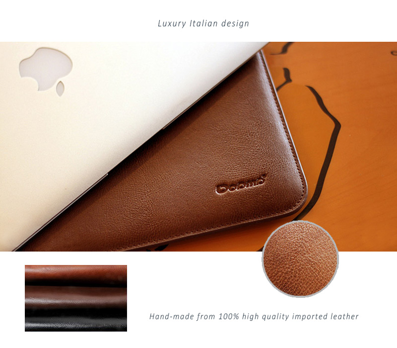 best website e5161 3efff Dopmp Genuine Leather Sleeve Bags for MacBook Air & Pro, Pro Retina-Stylish  Elegant, Simple Cut