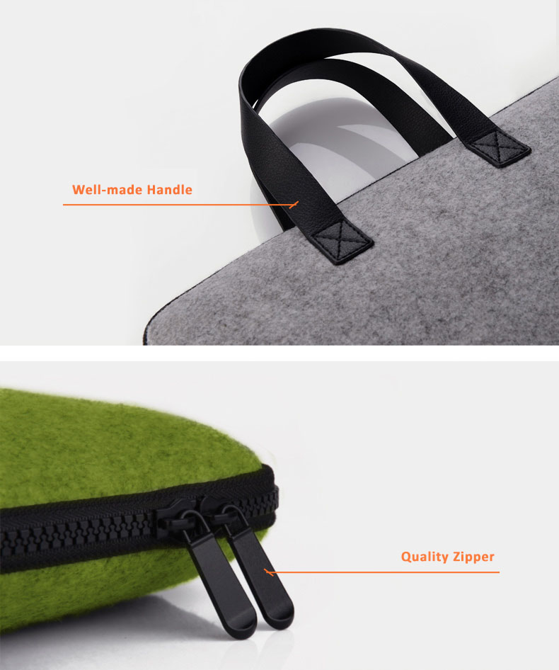 "Cartinoe Wool Felt Eco Friendly Bags for MacBook Air & Pro, Pro Retina 11.6"" to 15.4"" -  100% Recycle Material, Sustainable for the Environment"