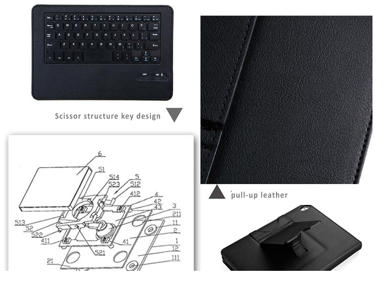 Seenda Leather with Detachable Bluetooth Wireless Keyboard for Google Nexus 9 - with Integrated Stand on the Back Cover