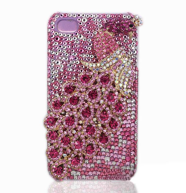 Crystal iPhone Case - Piink Peacock