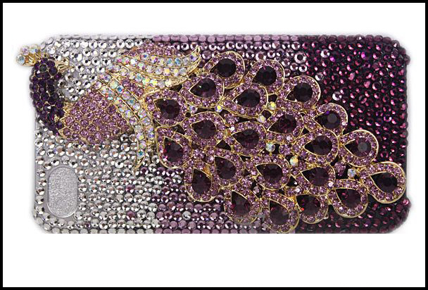 Crystal iPhone Case - Purple and Silver