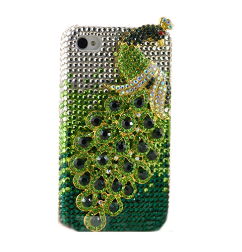 Crystal iPhone Case - Green Peacock