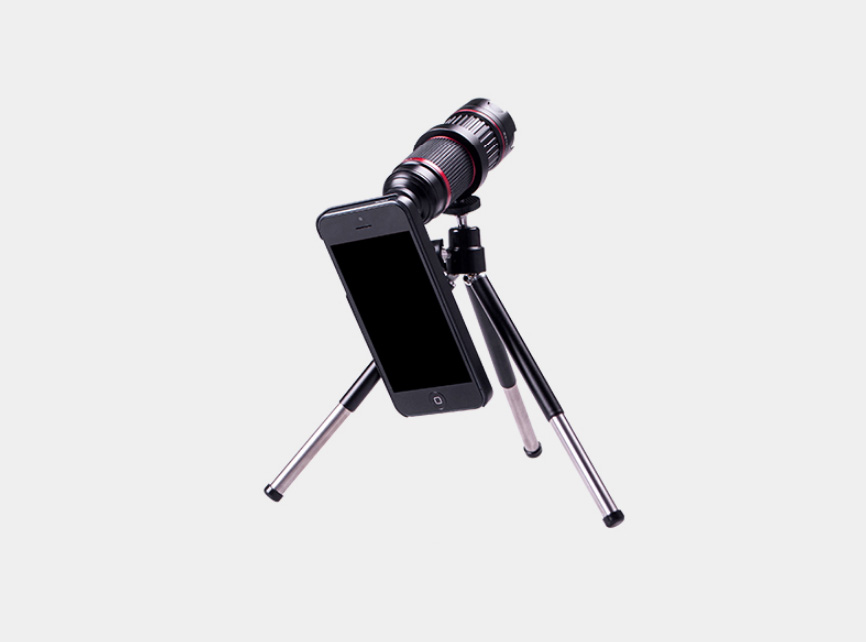 4X-12X Wide Angle 24mm Telephoto Lens bundled with tripod, fits to iPhone 5/5S, 6/6plus, Samsung Galaxy S6