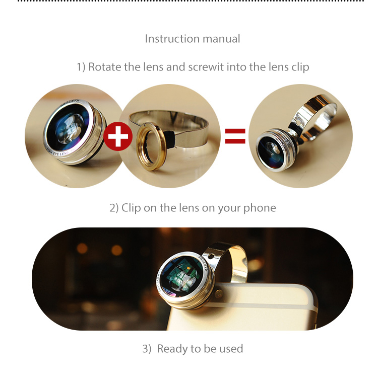 Martube Camera Lens 3 in 1 for smartphones. Wide Angle+Macro+Fisheye Lens with Universal Clip, Fits to 99% smartphones, iPhone, Samsung, Sony, HTC...etc.