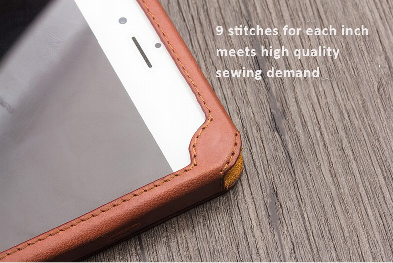 Genuine Cowhide Leather Protective Cases with Cover, Stand Feature for iPhone 6/6 Plus iPhone 6S/6S Plus - Free Gift - Tempered Glass Film / Screen Protector