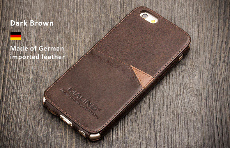 Genuine Cowhide Leather Protective Cases/Skins for iPhone 6/6 Plus iPhone 6S/6S Plus - Made of imported quality leather, from Italy, Germany, USA, Russia.  Free Gift - Tempered Glass Film / Screen Protector