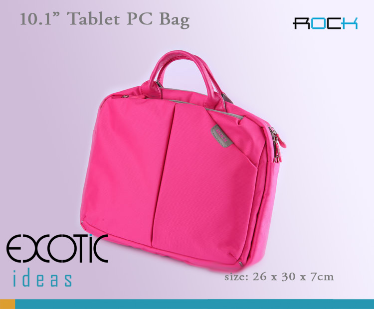 ROCK iPad 2 / The new iPad (iPad 3) / iPad4 and PC Tablet  Sleeve Bags - Nylon jacquard with watertighting 210D lining, Anti-shock, Durable