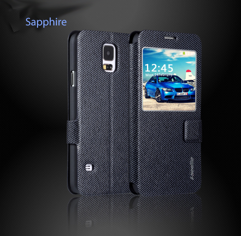 Samsung Galaxy S5 i9600 Genuine Leather Protective Cover Case with Magnetic Buckle - i-Smile Classic Series