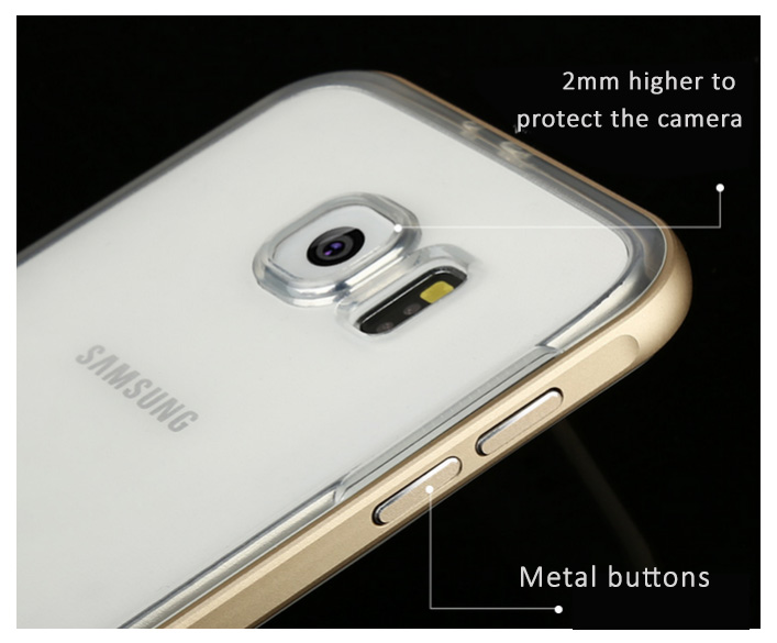 Baseus Fusion Series for Samsung Galaxy S6/S6 edge Protective Case - Metal frame + German Imported TPU Back Shell, Anti-Shock, Anti-Droping Impact, Anti-Scratches