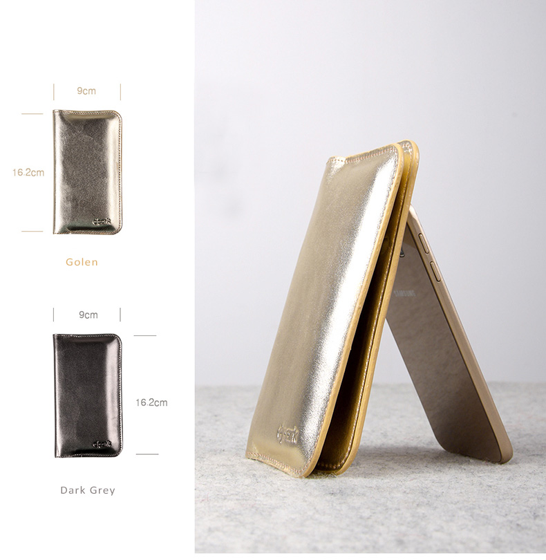 d-park Genuine Leather Wallet Type Protective Cases for Samsung Galaxy S6/S6 edge - Crystal Seahorse Series- With Gold Shiny Technicolor Process.