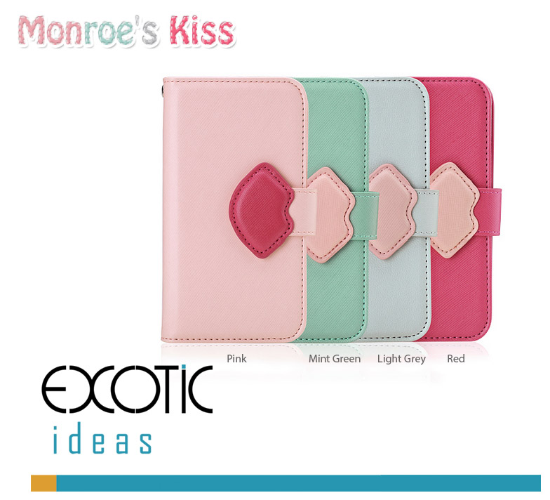 8thDays Monroe's Kisses Series Case Skin for  Samsung Galaxy S4 i9500 - with Cover and Strape