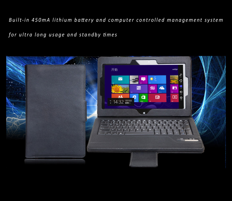 Seenda Leather Smart Cover with Detachable / Removable Bluetooth Keyboard for Asus ME400C