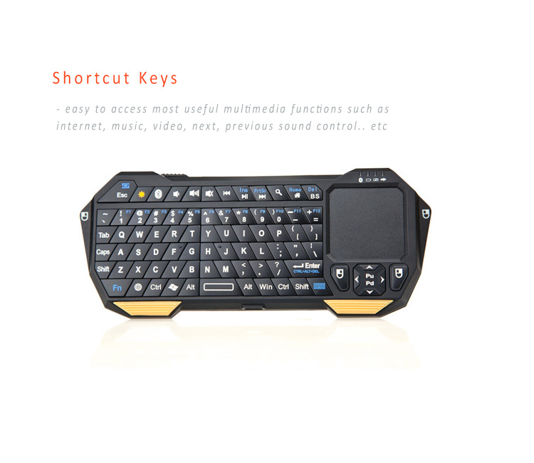 3.0 Bluetooth Keyboard + Touch Pad in One, Control all your sMART devices in one, for Windows, Android, Apple iOS
