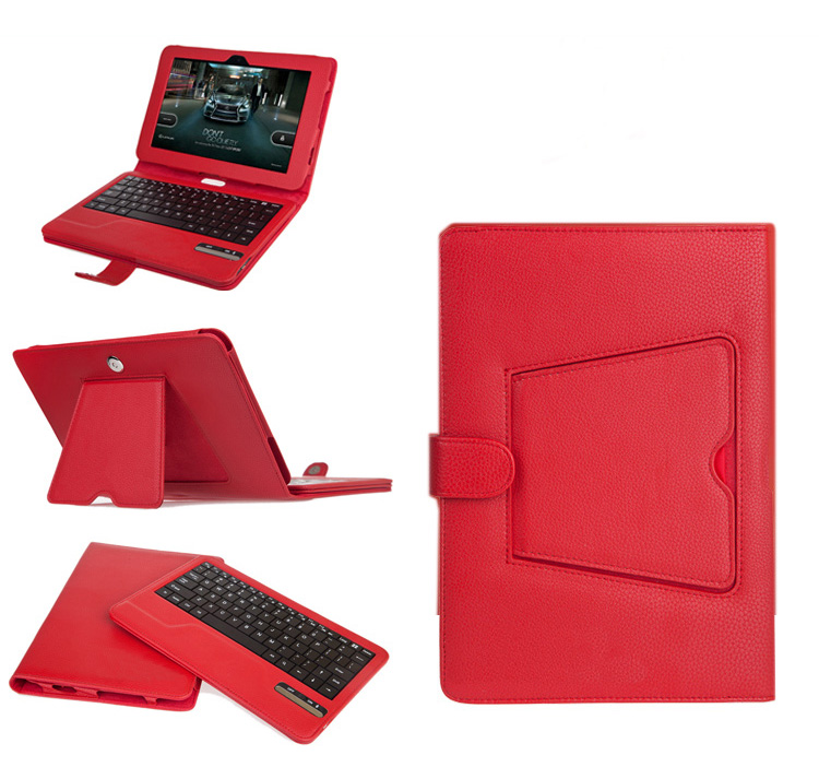 Seenda leather smart cover with detachable Bluetooth keyboard for Kindle Fire HD, built-in stand and magnetic keyboard
