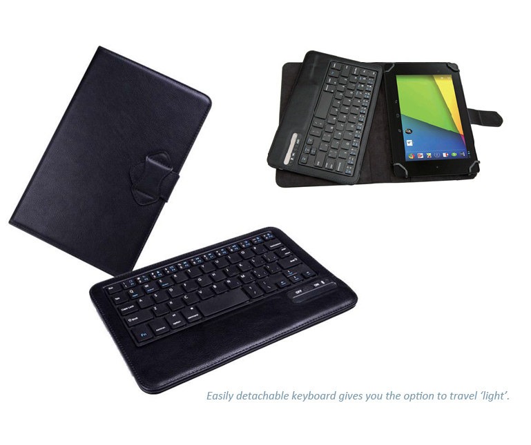"Seenda Bluetooth Keyboard and Cover - Universal Bluetooth keyboard for 7"" to 8"" tablets, fits to IOS, Android or MS Windows"