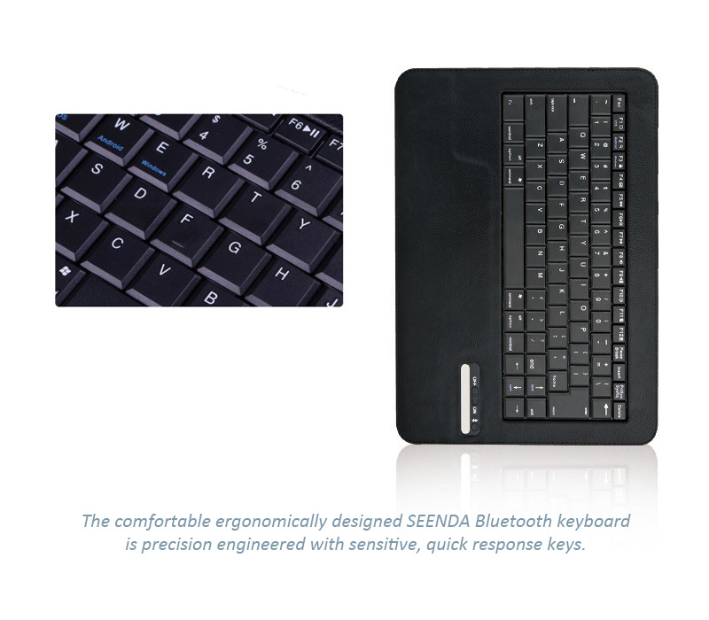 "Seenda Bluetooth Keyboard and Cover - Universal Bluetooth keyboard fpr 9"" to 10"" tablets, fits to IOS, Android or MS Windows"