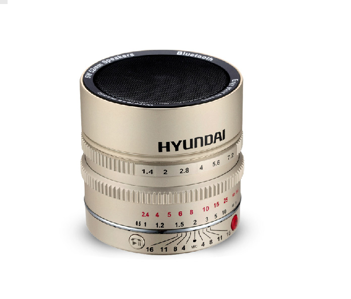 Hyundai Bluetooth, NFC MP3 player with Lens stylish design. Stereo speaker + FM radio + Calls Answer...etc features
