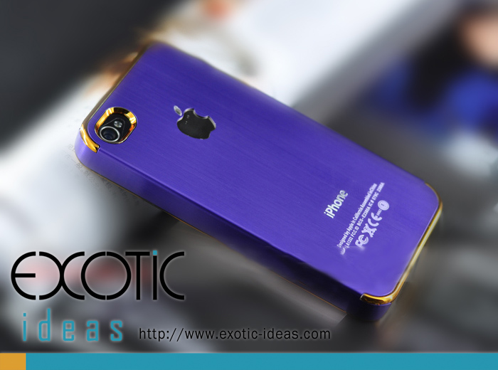 iPhone Blue Steel Case - Gold Ring