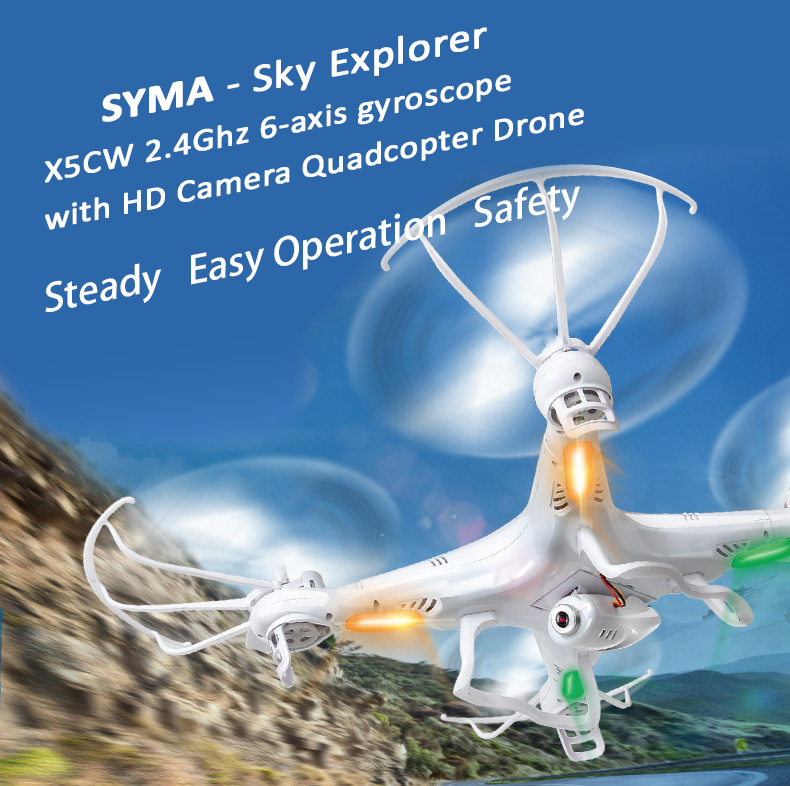 Syma X5SC 2.4Ghz 6-axis gyroscope RC Quadcopter Drone with 2M Pixel HD Camera