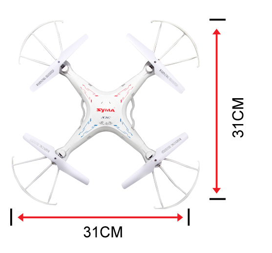 Syma X5SC 2.4Ghz 6-axis gyroscope RC Quadcopter Drone with 2M Pixel HD Camera.