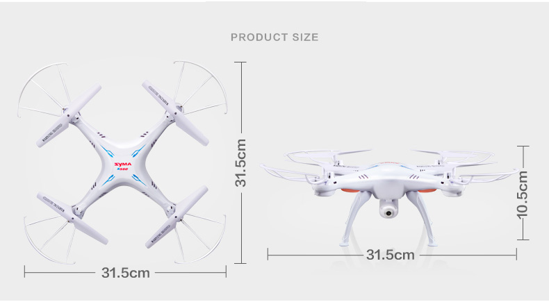 Syma X5SW 2.4Ghz 6-axis gyroscope WiFi RC Quadcopter Drone  with 2M Pixel HD Camera and Wifi feature for FPV Instant transmitting