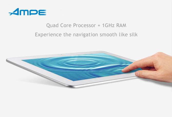 """Qualcomm Quad Core, Android 4.2, 10.1"""" IPS 10 point touch screen, WCDMA 3G  / 2G, WiFi, Bluetooth,GPS. Skype, 3D Games. Tablet and Phone in One"""